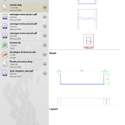 Filr preview di un file Autocad