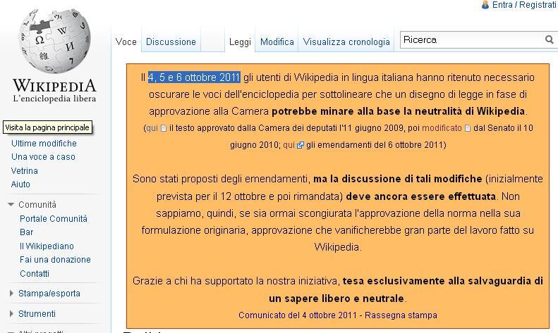 Wikipedia Si Autocensura Rfc Networking E Informatica